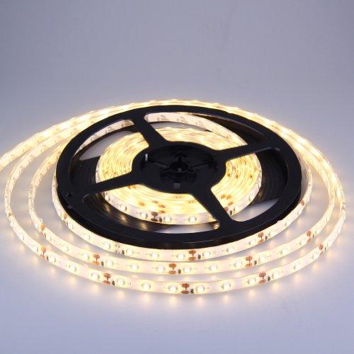 J&G 5M 3528 SET Strip LED Leiste Lichtband Lichterkette Wasserdict IP65 (Warmweiß, 5Meter 300 LED 60LED/Meter)