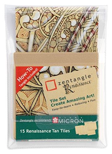 Zentangle Renaissance Tan Tiles, 15 braune Zentangle-Kacheln