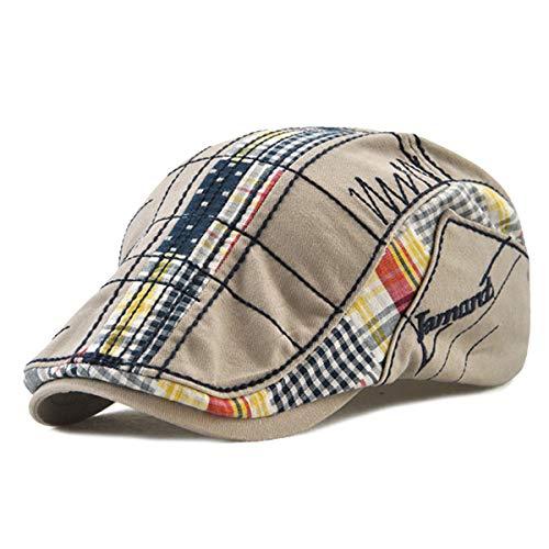 Gatsby Flatcap Schiebermütze Ivy Schirmmütze Cap Kappe Vintage Patch Cadet Hat Flat Beret Newsboy Golf (Grau)