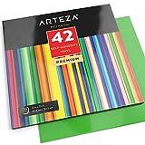 42 Láminas de papel de vinilo de colores surtidos Arteza