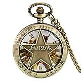 Mechanical Pocket Watch Antique Bronze Saint...