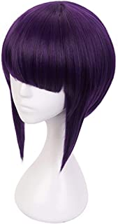 C-ZOFEK My Hero Academia Anime Jiro Kyoka Cosplay Wig Dark Purple (purple)