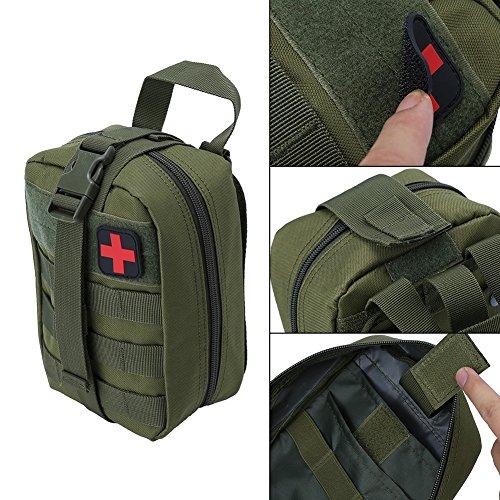 Outdoor Erste-Hilfe-Tasche Notfalltasche Medzinische Hilfe für Outdoor Aktivitäten wie Camping Radfahren Klettern Wandern ( Farbe : Grün ) - 2