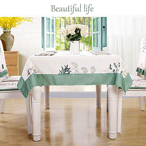 HRSS Mantel impermeable rectangular/cuadrado, cubierta de poliéster, lavable para casa, restaurante, banquete o picnic, 110 x 160 cm