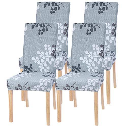 ChicSoleil Stoelhoezen, stoelhoezen, 1/4/6 stuks, stretch, eetkamerstoel, beschermhoes, elastische hoezen met modern patroon, voor hotel, eetkamerstoel, decoratie