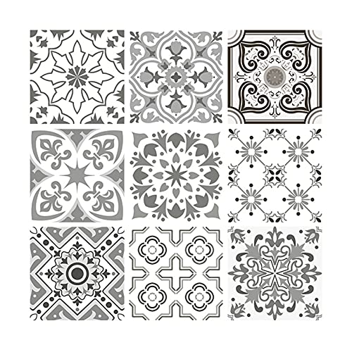 Pegatinas de pared para sala de estar, 10 pegatinas de pared autoadhesivas antideslizantes a prueba de humedad, pegatinas decorativas de PVC para el hogar – 10 x 10 cm 1
