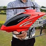 Darenbp Boy Toy Avion Enfants Drone géant extérieur Grand 85cm RC Helicopter avec télécommande Radio Lumière LED Gyro contrôle 3.5 canaux hélicoptère débutant Cadeaux de Vacances Facile à Utiliser