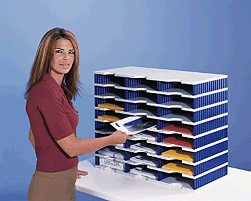 styrodoc Sortierstation trio mit 24 Fächern/268030838 723x331x573mm grau/blau