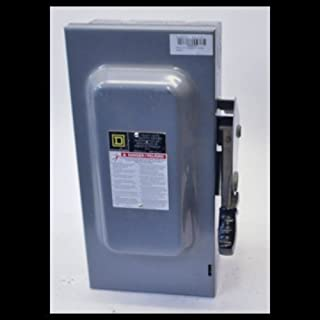 1- HU362 SQUARE D Safety Switch 60 AMP, 3 POLE, NOT FUSIBLE HD 600V 60A 3P NEMA1 INDOOR