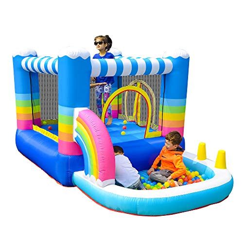 Doctor Dolphin Inflatable Toddler Bounce House Indoor Bouncy House for Kids Outdoor Birthday Party with Blower