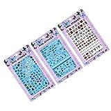 ZLHEgan 3 Set uñas Etiqueta engomada del Arte del Clavo de la Calabaza del Fantasma del búho Etiqueta engomada del Abrigo extremidades de Herramienta de Bricolaje Manicura Pegatinas