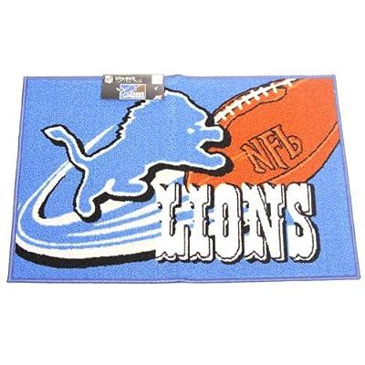 "NFL Detroit Lions Tufted Non Skid Rug, 20"" x 30"", Blue"