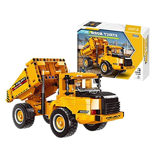 Mr.LQ Engineering Car Series Building Blocks - Dump Truck Assembly Small Particle Building Blocks Educational Kids Toys