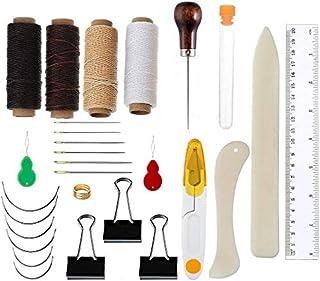 28 Pièces Bookbinding Tools Set Bone Folder Creaser de Papier Marqueur Coutures d'Awl Coudre le Fil Ciré Aiguilles à Coudr...
