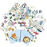 ROLLIN baberos bebe para niño | bandana bebe impermeables, bufanda, pañuelo,...