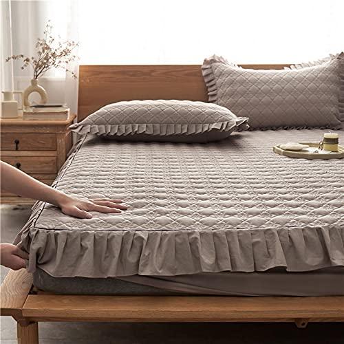 BOLO Sábanas, 100% de fibras largas sábanas de algodón, sábanas de satén de lujo (100% algodón extra profundas), bolsillo profundo, 120x200+30cm