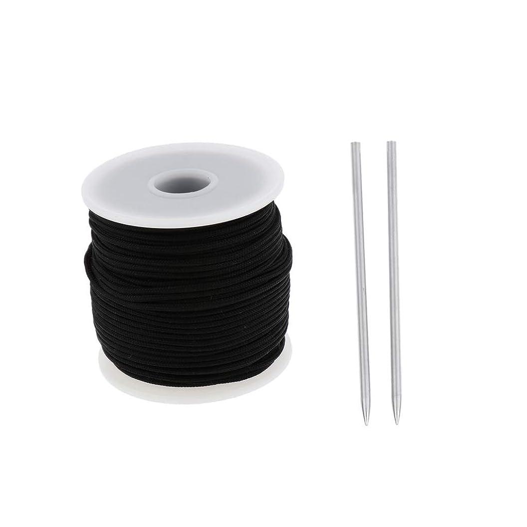 コーラス産地資本主義SM SunniMix パラコードニードル ステンレス パラコード針 ステンレス製 +パラコードロープコード屋外 約2mm 約50m