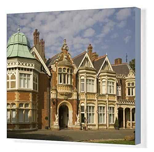 20x16 Canvas Print of The Mansion, Bletchley Park, the World War II code-breaking centre (6231855)