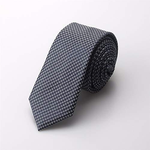 pyty123 Men's Casual Kleine Krawatte Koreanische Version des Dot Business Schmal Krawatte Student Casual Knot Hochzeit Boxed 5,5 cm, Grau