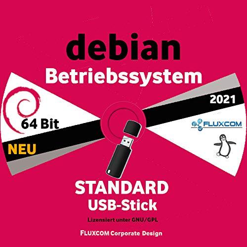Debian Linux 10.8.0 64 Bit, Live, deutsch auf 32GB USB-Boot-Stick 2021