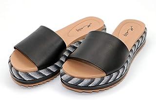 MISS AJ Black Fabulous Slipper for Women
