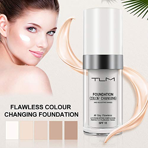 2 Pack TLM Flawless Colour Changing Foundation Makeup