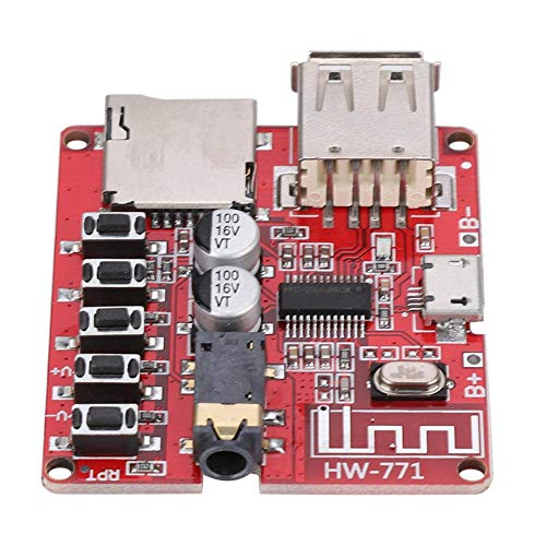 Naroote Placa Base Amplificador de Potencia,Placa Madre del Coche Altavoz Amplificador de...