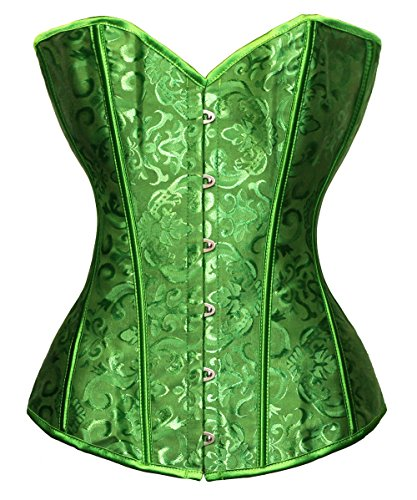 Bslingerie® Corsé para mujer, para reducir la cintura, brocado multicolor verde small