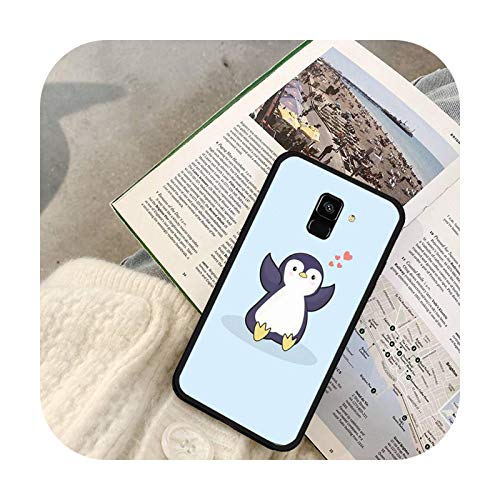 Fundas lindas del teléfono del pingüino para Samsung S7 Edge S8 S9 S10 Plus S10 Lite 5G S20 ULTRA Plus-a1-para Samsung S8plus