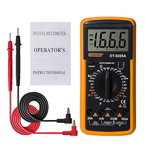 Myya DT9205A HFE AC DC Pantalla LCD Medidor De Probador De Mano Eléctrico Profesional Multímetro Digital Amperímetro Multímetro
