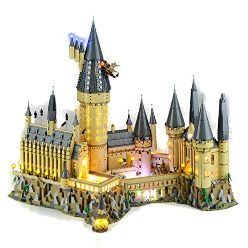 Gycdwjh Kit De Iluminación Ambiental LED Compatible con Lego 71043 Harry Potter Hogwarts Castle, Fuente De Alimentación USB (El Producto No Incluye Modelos De Bloques De Construcción)