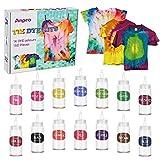 Anpro Tie Dye Kit de 160 piezas Tie-Dye DIY Set 14 colorantes de 100 ml de tela Pintura Tie Dye Kit Artesanía para niños y adultos Fashion DIY