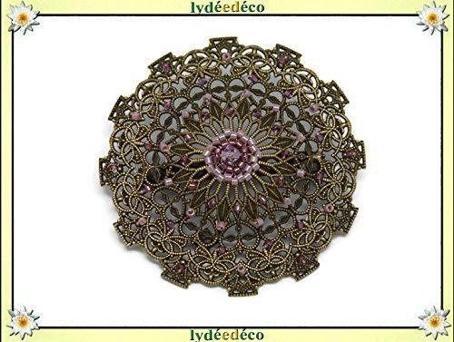 Vintage Brosche Herz Weben der japanischen lila Perlen Durchmesser personalisierte Geschenk Weihnachten Freundin Mama Geburtstag Hochzeit Gast Valentinstag Muttertag danke Herrin