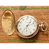 Elgin, Waltham, Vintage Antique Pocket Watch Photo Collection Vol.1 (English Edition)