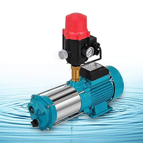1300W Kreiselpumpe, 6000L/H 9,8Bar Gartenpumpe Mit Druckschalter Hauswasserwerk Edelstahl Gartenpumpe Wasserwerk