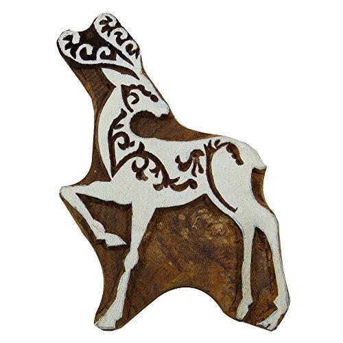 Deer Brown Textil Hand Geschnitzte Stempel Block-Druck Holz Indian Wood Block Kunst