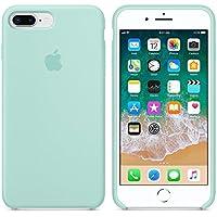 Funda para iPhone 7Plus/8Plus 5,5Inch Carcasa Silicona Suave Colores del Caramelo con Superfino Pelusa Forro, para Apple iPhone 7Plus/8Plus (Verde mar)