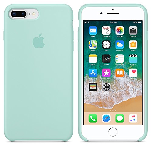 Funda para iPhone 7Plus/8Plus 5,5Inch Carcasa Silicona Suave Colores del Caramelo con Superfino Pelusa Forro, para Apple iPhone 7Plus/8Plus (Verde mar)
