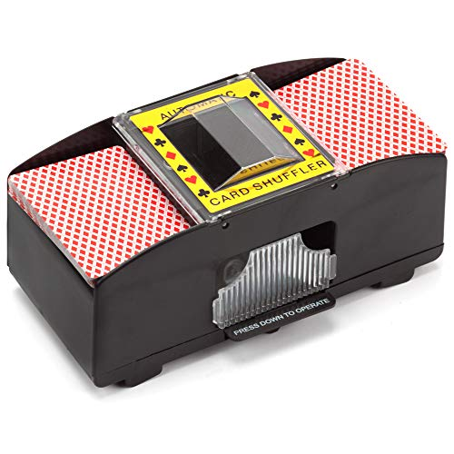 1-2 Deck Casino Automatic Card Shuffler for Poker Games
