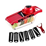 Mandoline, Multi-Purpose Vegetable Slicer, Vegetable Chopper, Safe and Durable, BPA-Free, Suitable for Potatoes, Onions and Other Vegetables and Fruits