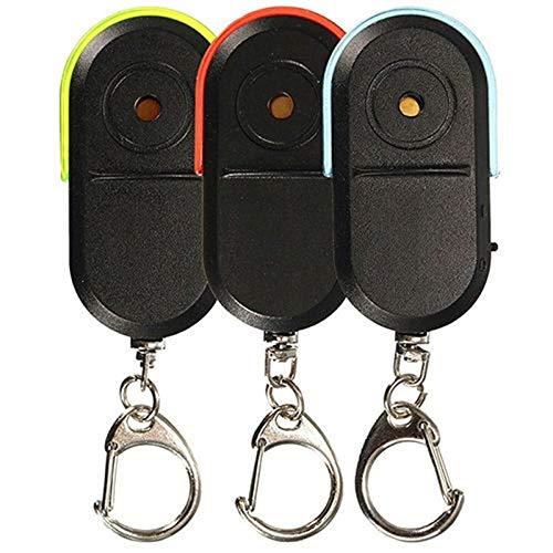 Finder Key Warn Light Light Anti-Perdido Localizador Localizador Llavero Mini Anti Lost Playa Electrónica Finder Remoto Whistle Reminder 3pcs