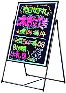 6 Colors Led Writing Board 60x40cm with Stand and 8Fluorescent Markers