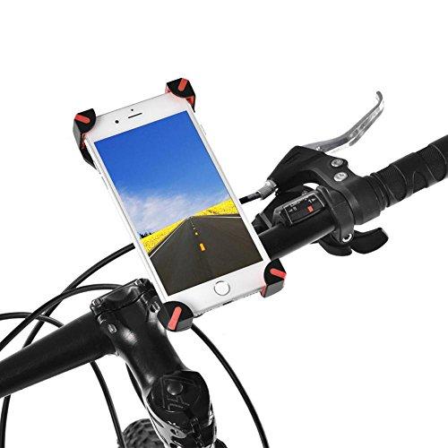 Acogedor Bike Phone Halter für Universal Handy Fahrrad Lenker & Motorrad Halter Wiege mit 360Drehen für iPhone und Alle Android Phone Google Nexus & GPS-Gerät, Rot