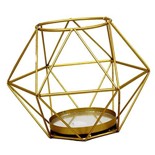 Metalen waxinelichthouders Geometrische metalen draad theelichthouder Lantaarn Bruiloft Feestdagen Evenementen Feestdecoraties - D