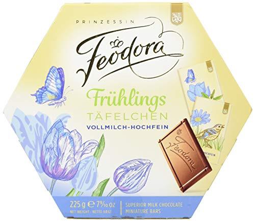 Feodora Frühlings-Täfelchen Vollmilch-Hochfein, 4er Pack (4 x 225 g)