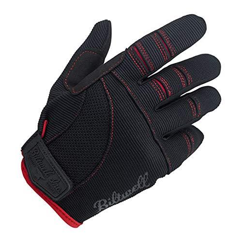 Guantes Gloves de tela para moto negro/rojo negro/rojo Biltwell para hombre, talla S