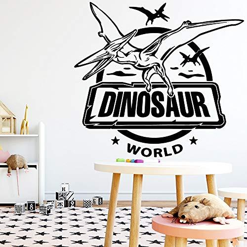 QQCYWZK Bande dessinée Dinosaure Wall Art Decal décoration Mode Autocollant pour Chambre décoration Autocollant Mural décoratif Sti 42x45cm