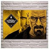 ZHHCVB Breaking Bad Bryan Cranston Walter White Aaron Paul Men with Glasses Posters and Prints Canvas Painting -20x28 Inch No Frame 1 PCS