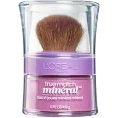 L'Oreal Paris True Match Naturale Blush mineral suave, 0.15 onzas, Rosa suave , 4,43ml