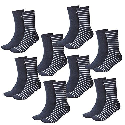 Tommy Hilfiger Damen Socken Small Stripe Casual Socken 8er Pack, Größe:35-38, Farbe:Jeans (356)